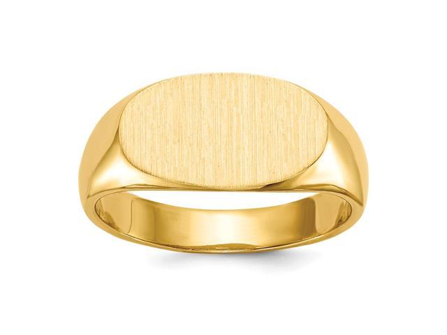 14k Yellow Gold Engravable Signet Ring (7.6mm x 13.5mm face)