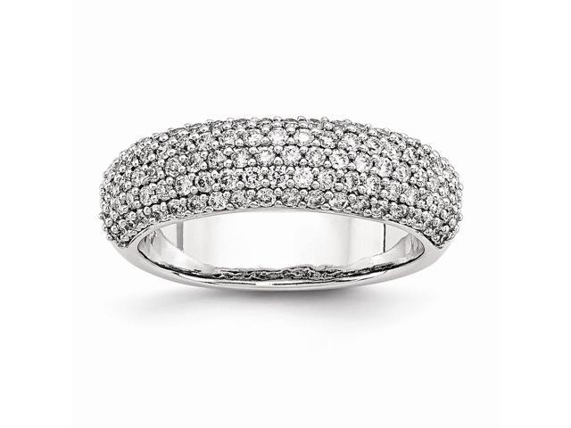 14k White Gold Diamond Band Ring (Color H-I, Clarity SI2-I1)