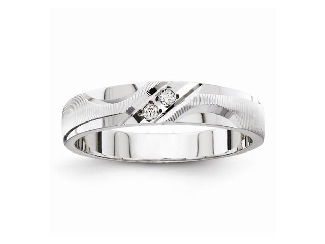 14k White Gold Fine Trio Ladies Wedding Band (Color H-I, Clarity SI2-I1)