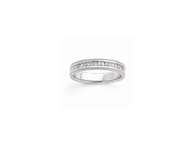 14k White Gold A Complete Diamond Band (Color I-J, Clarity I1-I2)