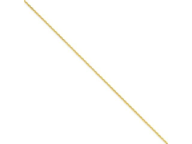 14k Yellow Gold 8in 1.4mm Diamond Cut Spiga Chain Bracelet