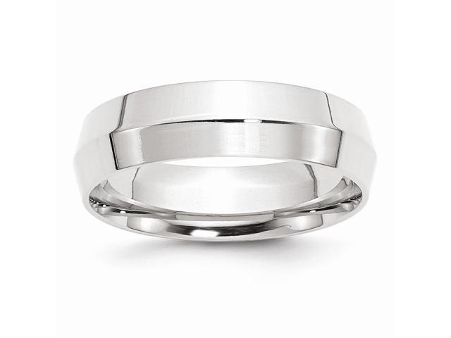 Palladium 6mm Knife edge Wedding Engravable Band
