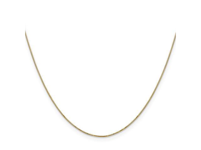 14k Yellow Gold 24in .5mm Box Necklace Chain