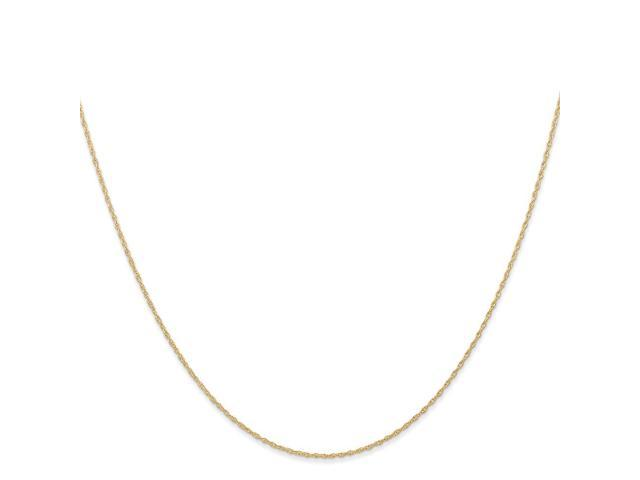 14k Yellow Gold Thin 18in 0.60mm Carded Cable Rope Necklace Chain