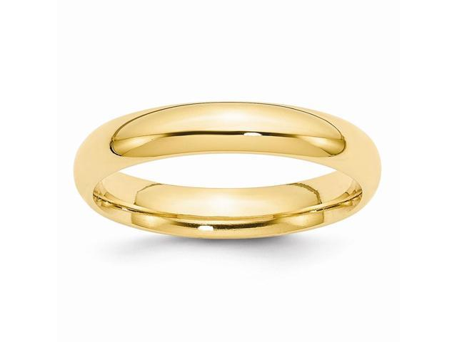 14k Yellow Gold Engravable 4mm Comfort-Fit Band