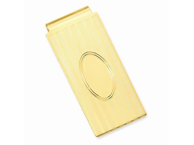 Stainless Steel Horizontal Lines Hinged Engravable Money Clip