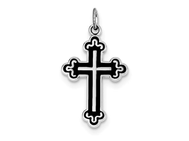 Sterling Silver Enameled Cross Pendant