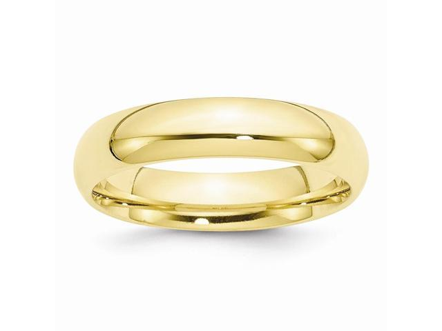 10K Yellow Gold 5mm Engravable Comfort-Fit Band