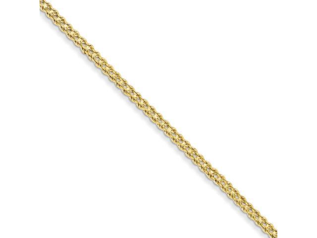 14k Yellow Gold 8in 3.5mm Double Strand Rope Bracelet