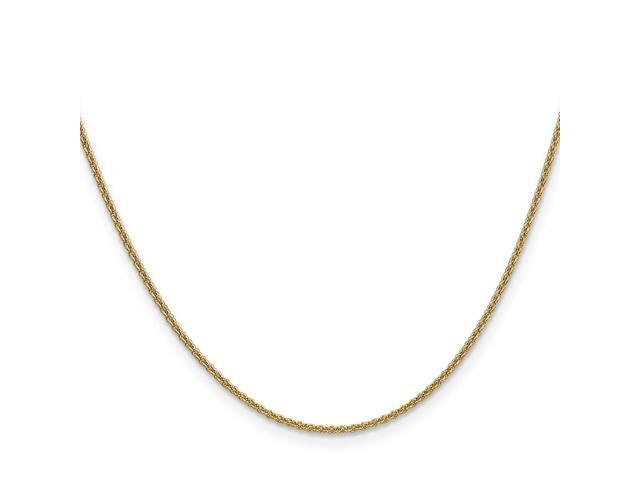 14k Yellow Gold 9in 1.5mm Solid Polished Cable Chain Bracelet