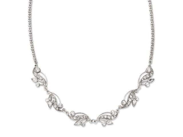 Silvertone Swarovski Crystal 16in with ext Necklace