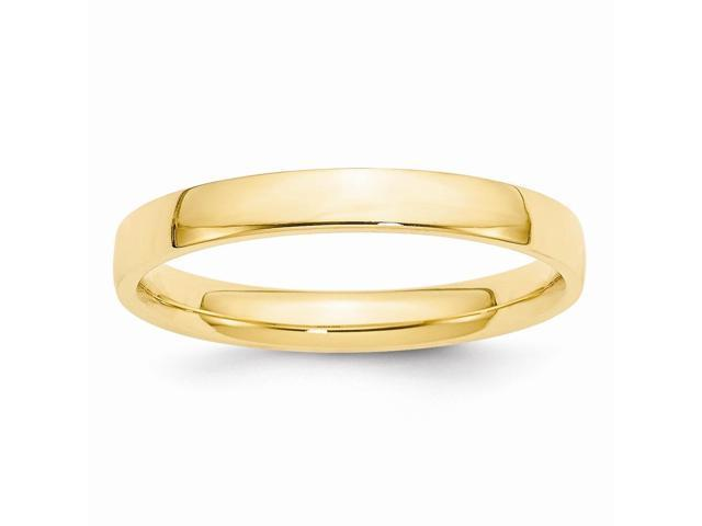 14k Yellow Gold 3mm Light-Weight Comfort-Fit Wedding Band