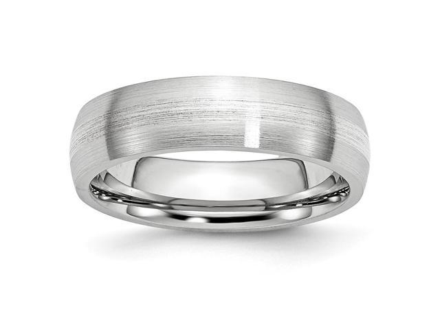 Cobalt Chromium Sterling Silver Engravable Inlay Satin 6mm Band
