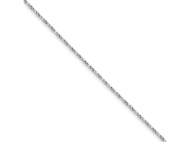 Sterling Silver 1.75mm Twisted Box Chain (30in long)