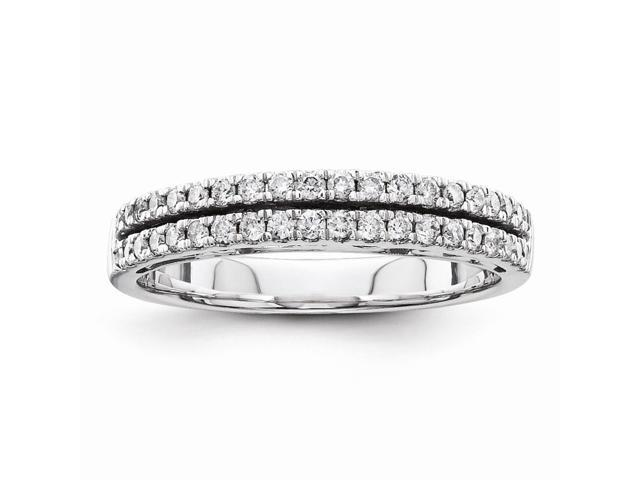 14k White Gold Diamond Bridal Wedding Band (Color H-I, Clarity SI2-I1)