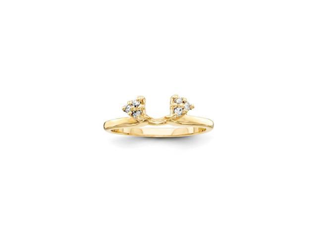 14k Yellow Gold Fine Diamond wrap (Color H-I, Clarity SI2-I1)