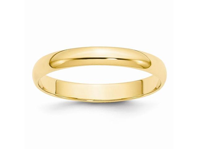14k Yellow Gold 3mm Half-Round Featherweight Band