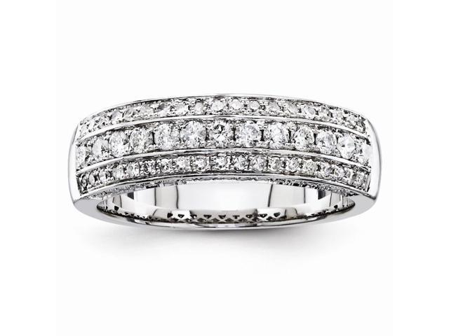 14k White Gold Polished Diamond Ring (Color H-I, Clarity SI2-I1)