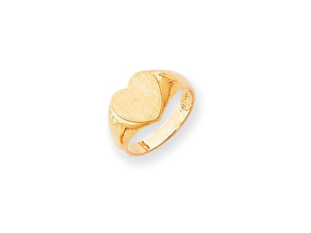 14k Yellow Gold Engravable Signet Ring (9.7mm x 9.4mm face)