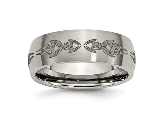 Titanium 8mm Brushed Engravable Band