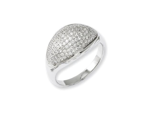 Sterling Silver & Synthetic CZ Embers Polished Ring