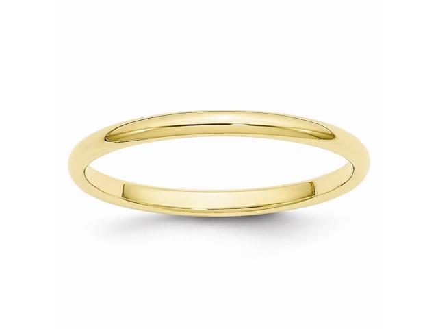 10K Yellow Gold 2mm Half-Round Band