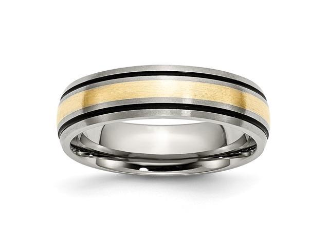 Titanium 6mm Brushed and Antiqued Engravable Band