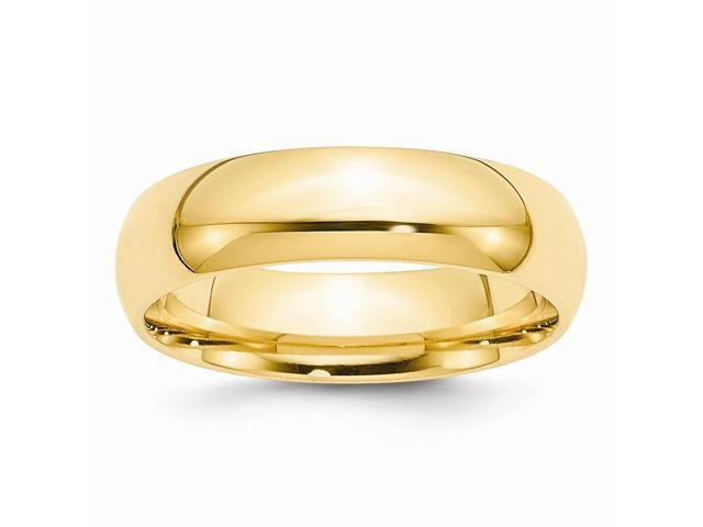 14k Yellow Gold Engravable 6mm Comfort-Fit Band