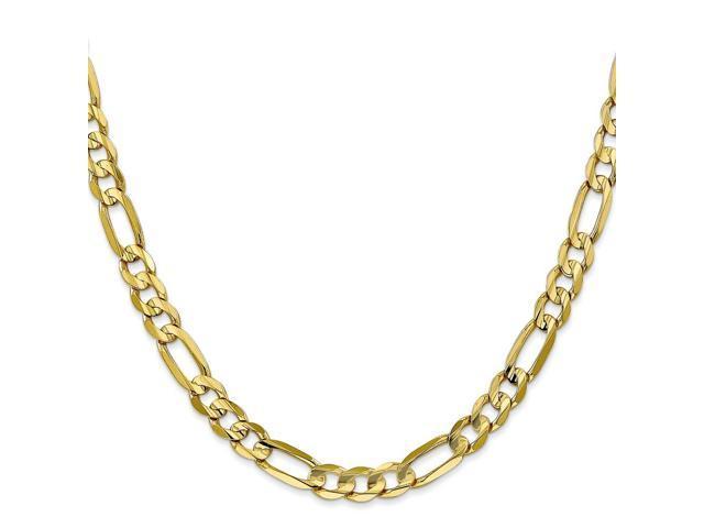 10k Yellow Gold 8in Light Figaro Chain Bracelet