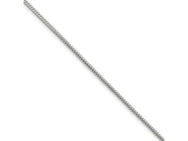 Sterling Silver 24in 2mm D/C Round Franco Necklace Chain
