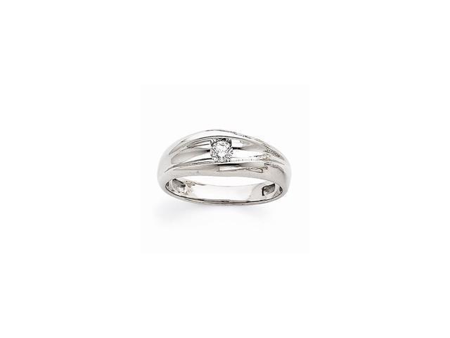 14k White Gold Fine Diamond Ring (Color H-I, Clarity SI2-I1)