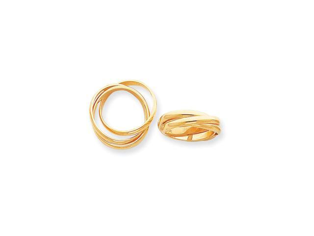 14k Yellow Gold Polished Rolling Ring