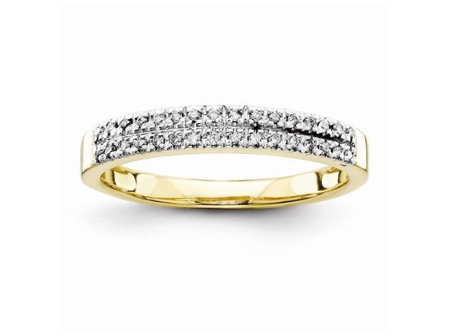 14k Yellow Gold Diamond Wedding Band (Color H-I, Clarity SI2-I1)