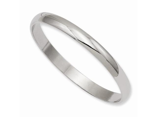 7in Rhodium-Plated Engravable Polished Baby Slip-on Bangle