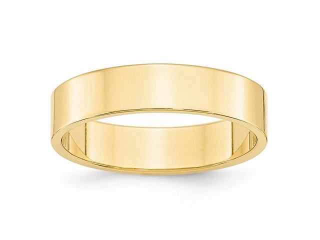 14k Yellow Gold Engravable 5mm Flat Wedding Band