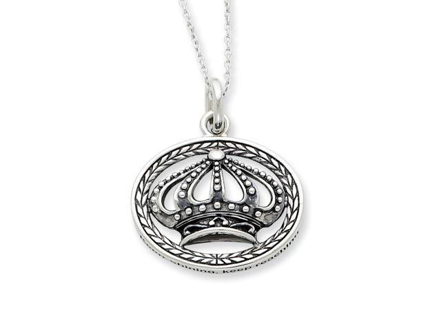Sterling Silver Antiqued Keep Shining.