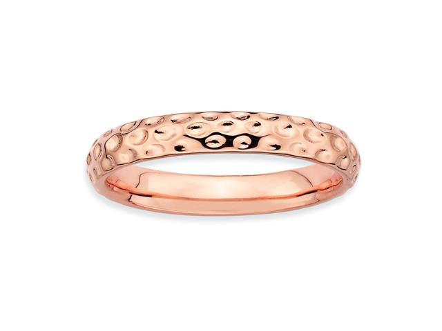 Love Me for A Reason Sterling Silver and 18k Rose Gold-Plated Stackable Pink Band