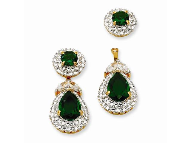 24k Gold-Plated & Rhodium-Plated First Lady Drop Earrings (1IN x 0.5IN )