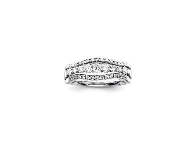 14K White Gold Diamond Fashion Ring (Color H-I, Clarity SI2-I1)