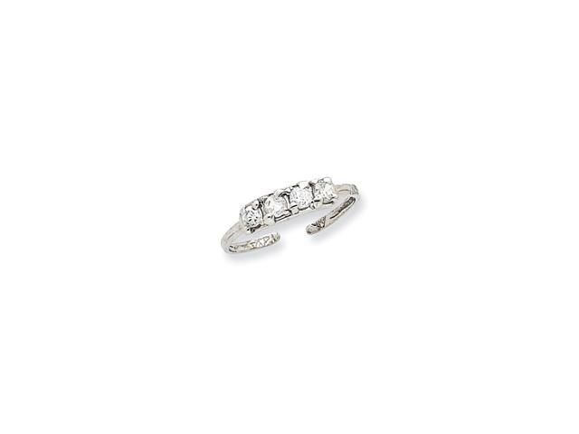 14k White Gold Synthetic CZ Toe Ring
