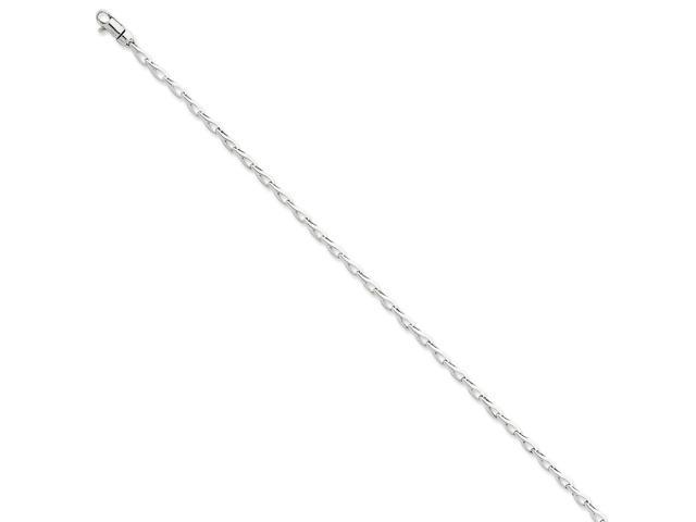 14k White Gold 8in 2.75mm Fancy Link Chain Bracelet