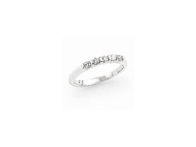 14k White Gold Fine Diamond Anniversary Band (Color H-I, Clarity SI2-I1)