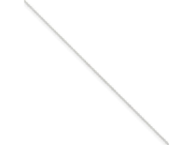 Sterling 20in Silver 1.2mm Beveled Oval Cable Necklace Chain