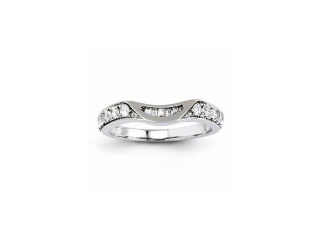 14K White Gold Diamond Band (Color H-I, Clarity SI2-I1)