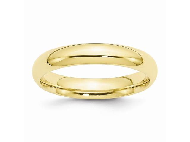 10K Yellow Gold 4mm Engravable Comfort-Fit Band