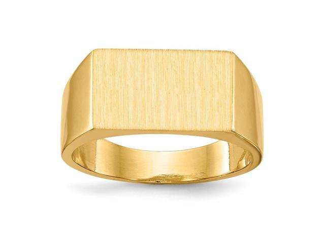 14k Yellow Gold Engravable Men's Signet Ring (9.4mm x 5.4mm face)