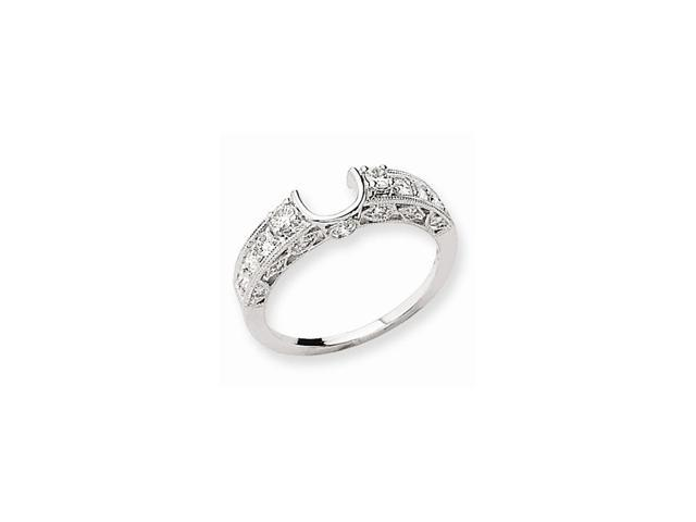 14k White Gold Diamond Wrap Ring (Color H-I, Clarity SI2-I1)