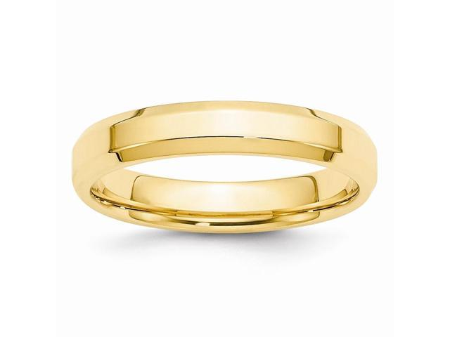 14k Yellow Gold 4mm Bevel Edge Wedding Band