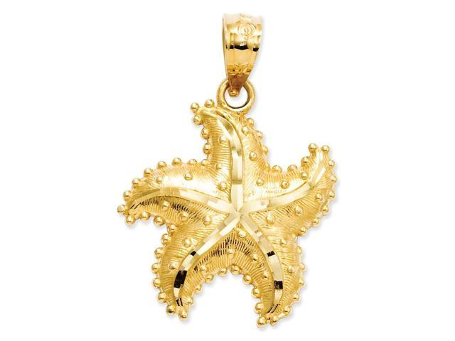 14k Yellow Gold D/C Starfish Pendant