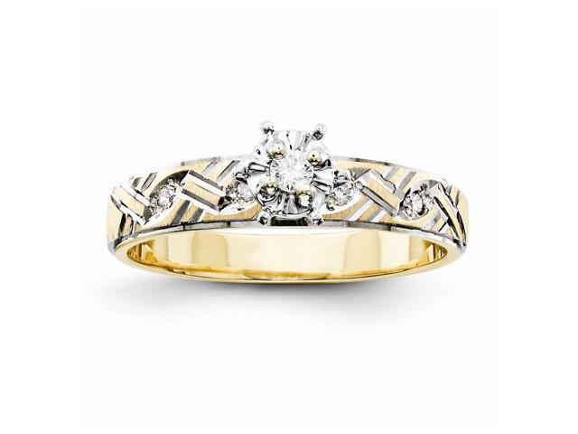 14k Yellow Gold Fine Trio Engagement Ring (Color H-I, Clarity SI2-I1)